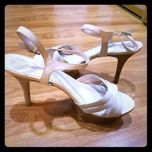 Vince Camuto Leather Platform Sandals